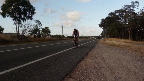 Lachlan Davis on his Rockhampton-Yeppoon-Rockhampton record attempt